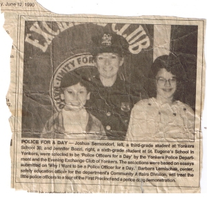 Policeman for a Day award-1990