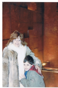 Mom & Josh @ Trump Towers-1988